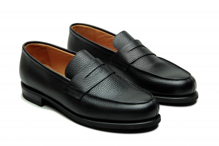 Adonis Grainé noir - Genuine rubber sole