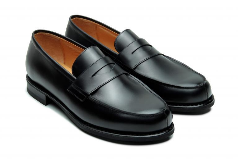 Adonis Lisse noir - Genuine rubber sole