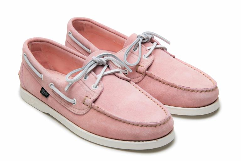 Barth Velours rose - Genuine rubber sole