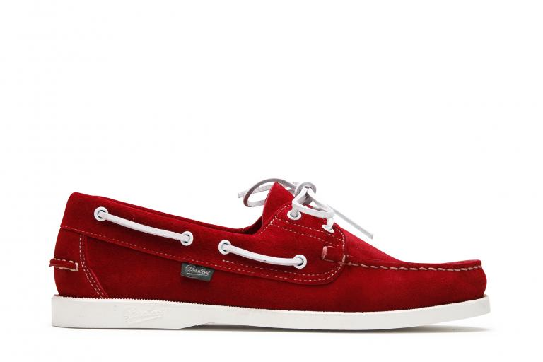 Barth Velours rouge - Genuine rubber sole