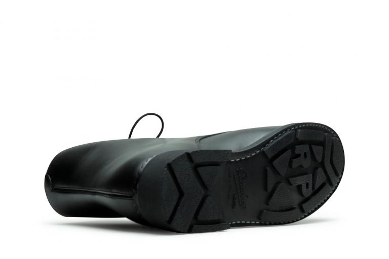 Beaulieu Lisse noir - Genuine rubber sole