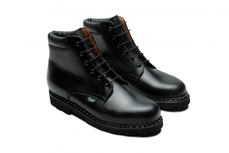 Bergerac Lisse noir - Genuine rubber sole