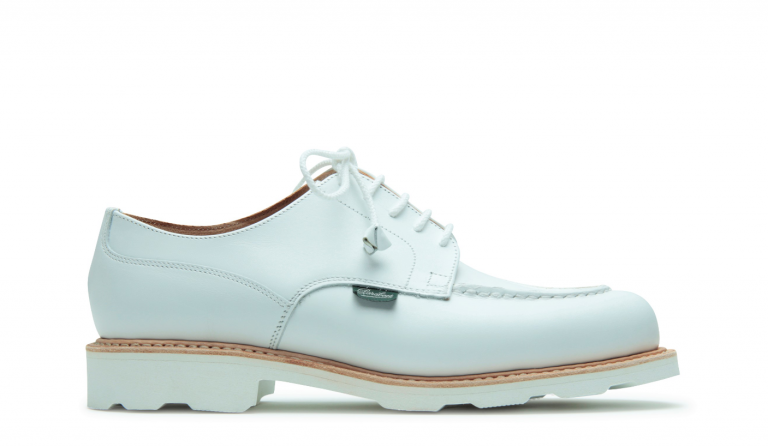 Chambord Lisse blanc - Genuine rubber sole