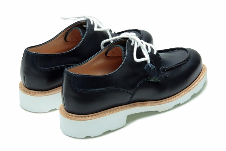 Chambord Lisse navy - Genuine rubber sole