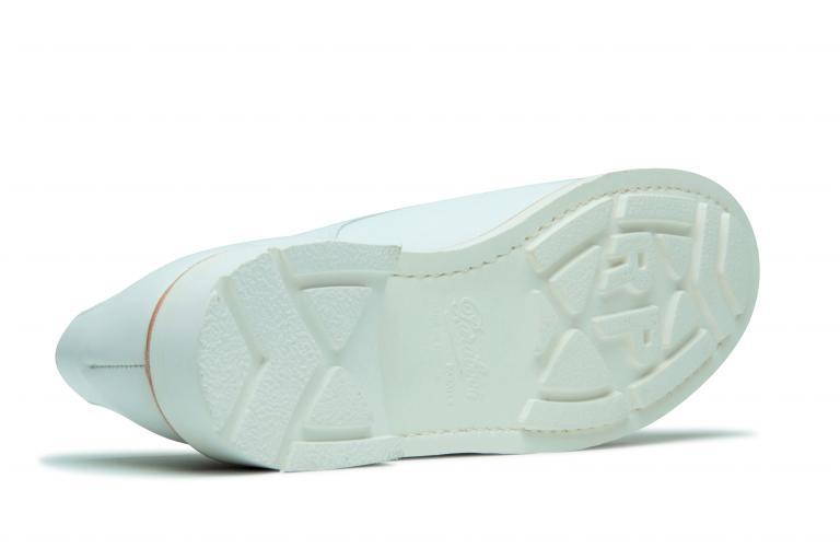Chambord Lisse blanc - Genuine rubber sole