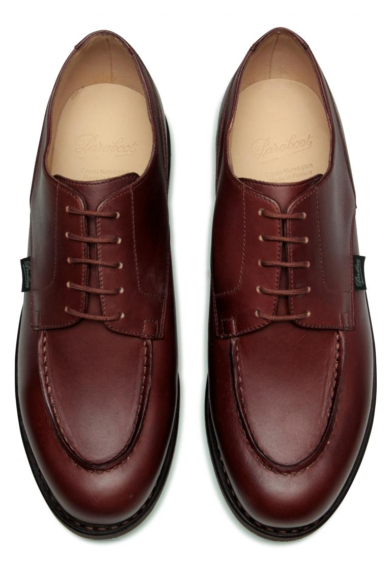 Chambord Lisse marron - Genuine rubber sole