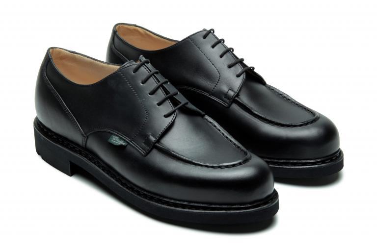 Chambord Lisse noir - Genuine rubber sole