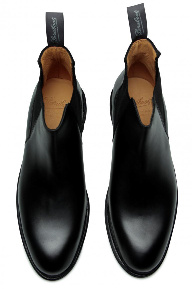 Chamfort Lisse noir - Genuine rubber sole