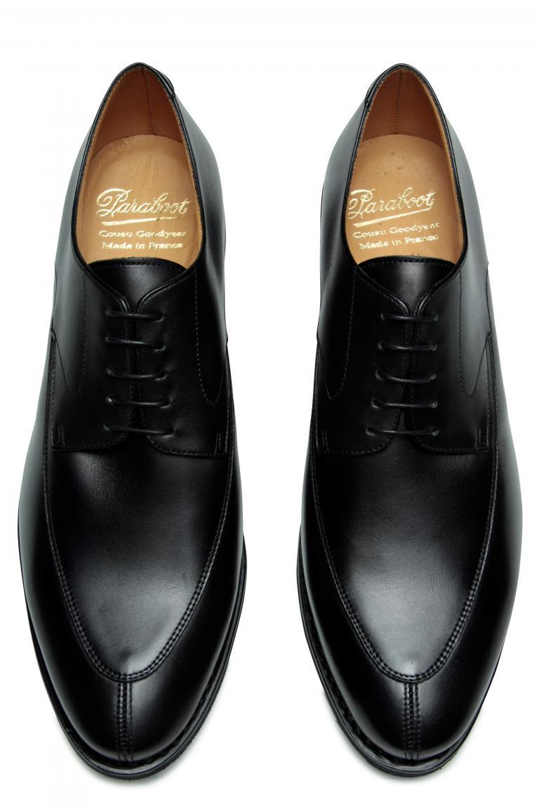Chelsea Lisse noir - Genuine rubber sole