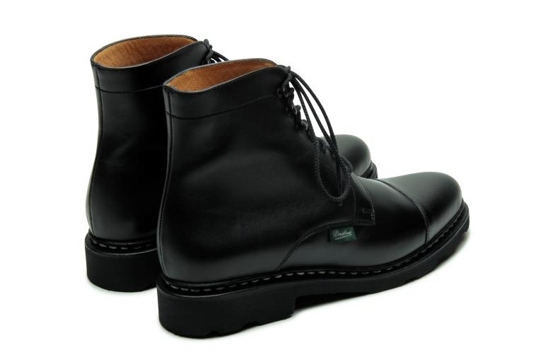 Clamart Lisse noir - Genuine rubber sole