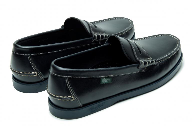 Coraux Lisse marine - Genuine rubber sole