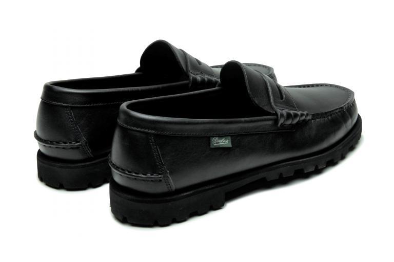 Coraux Lisse noir - Genuine rubber sole