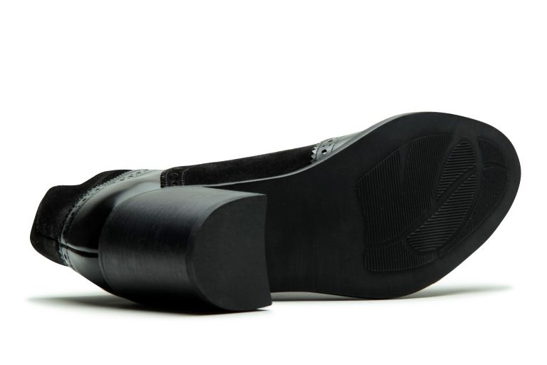 Delphes Gloss/velours noir - Semelle Cuir