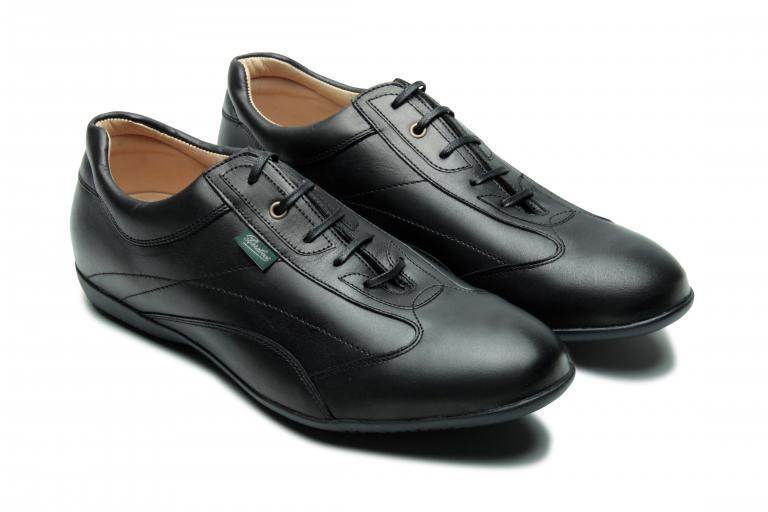 Estoril Lisse noir - Genuine rubber sole