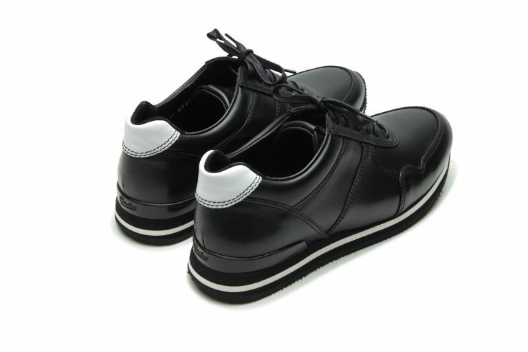 Fit Lisse noir/blanc - Genuine rubber sole