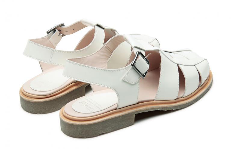 Iberis Gloss blanc - Genuine rubber sole