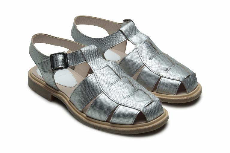 Iberis Rayée metal - Genuine rubber sole
