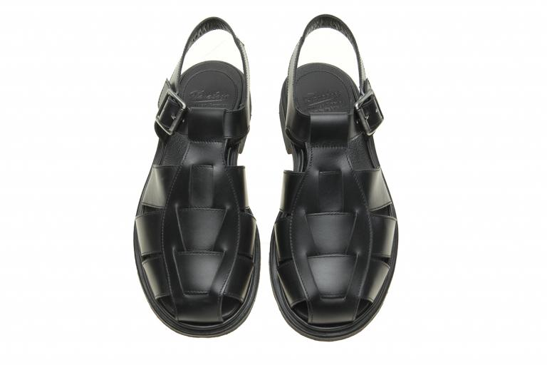 Iberis Lisse noir - Genuine rubber sole