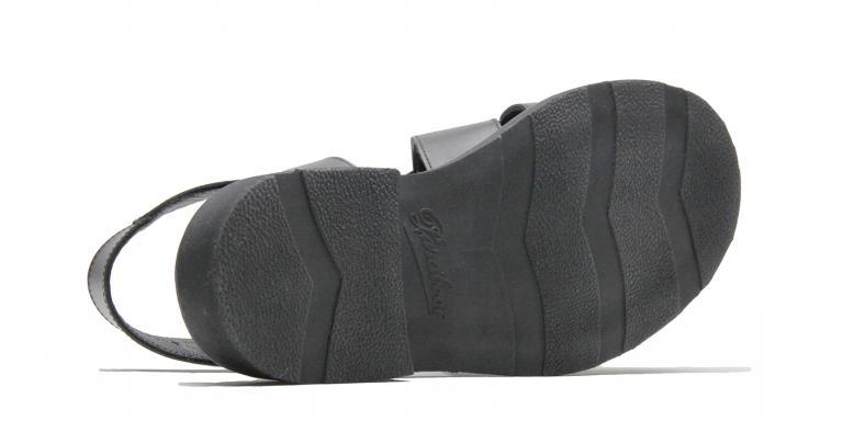 Iberis - cuir lisse noir (semelle)