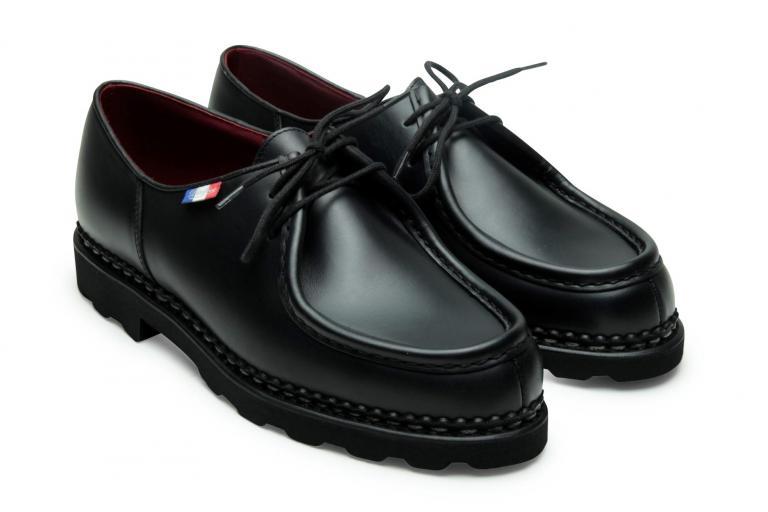 Michael bbr Lisse noir - Genuine rubber sole