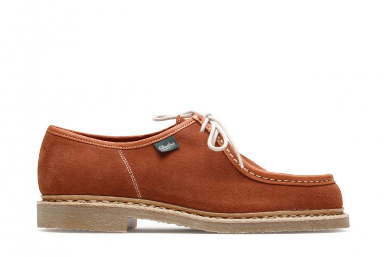 Micka Velours rust - Genuine rubber sole