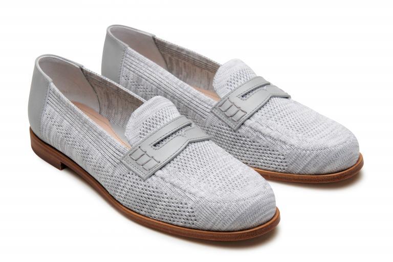 Minorque - cuir tricot gris (avant)