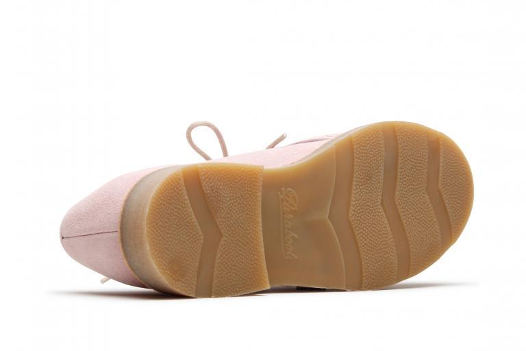 Mirabelle Velours rose - Genuine rubber sole