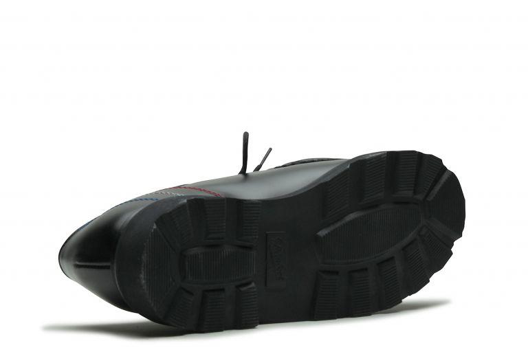Morzine BBR - Cuir lisse noir (semelle)