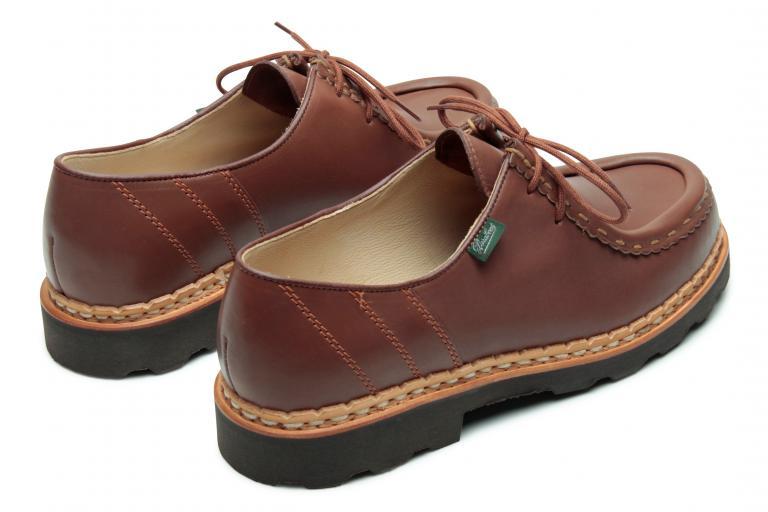 Morzine Lisse marron - Genuine rubber sole