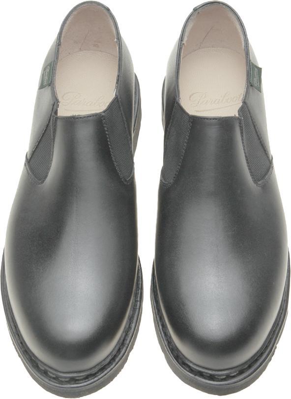 Nano - cuir lisse noir (dessus)
