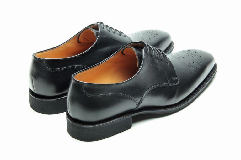 Prague Lisse noir - Genuine rubber sole
