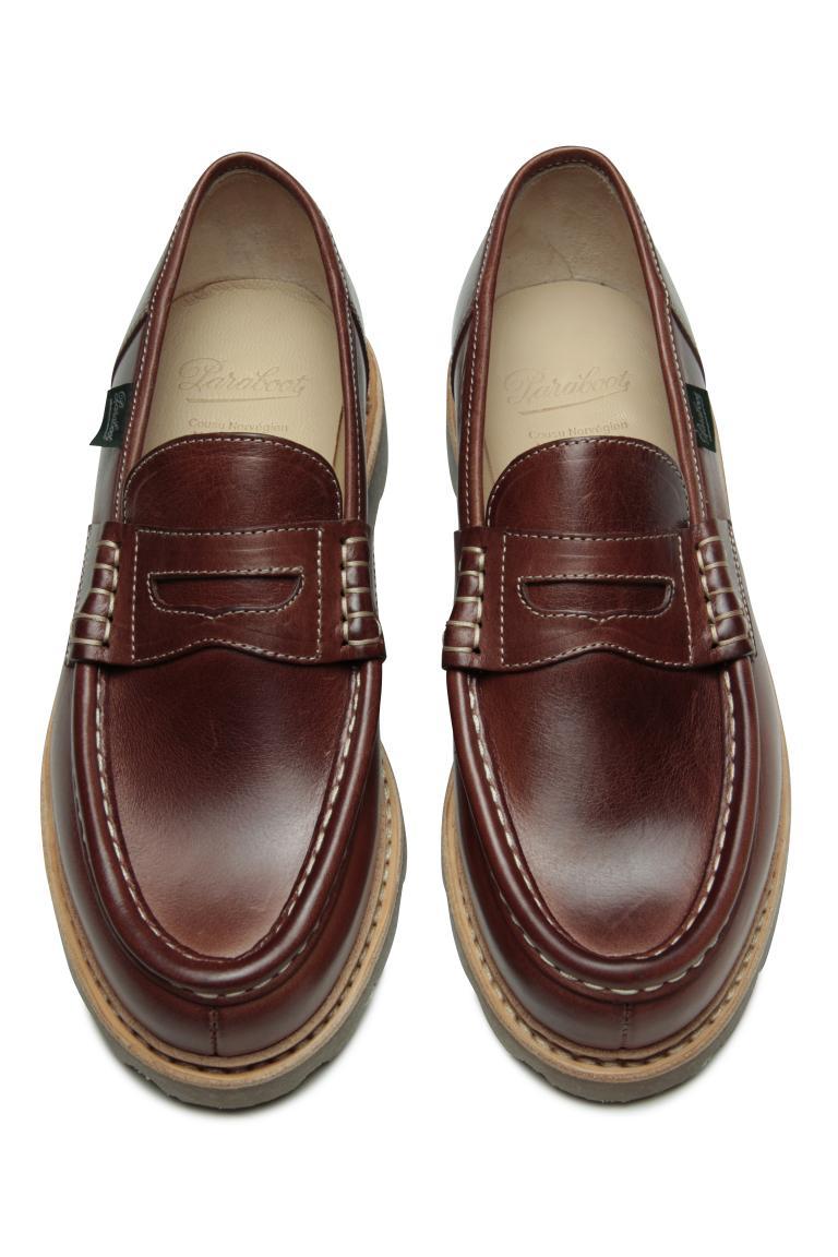 Reims Végétal marron - Genuine rubber sole