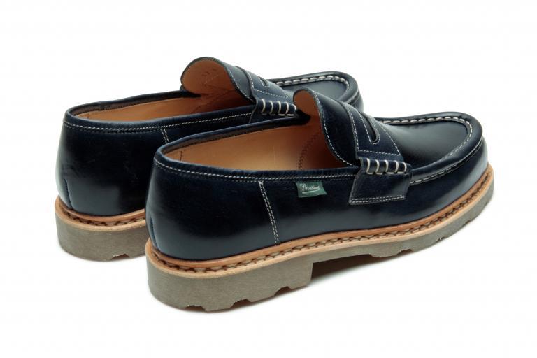 Reims Végétal navy - Genuine rubber sole