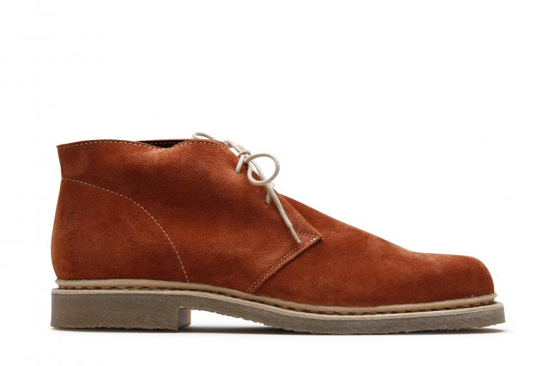 Riad Velours rust - Genuine rubber sole