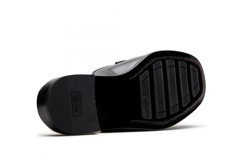 Transat Gloss noir - Semelle print cuir