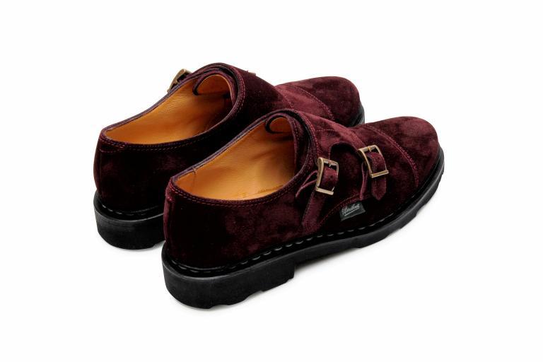 Vogue Velours prune - Genuine rubber sole