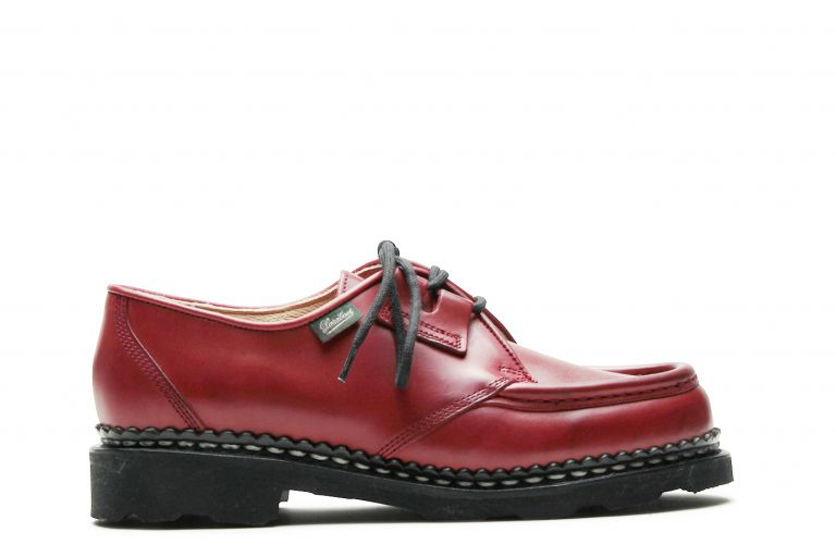 Beaubourg Lisse rouge - Genuine rubber sole