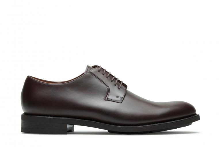 Chopin Lisse choco - Genuine rubber sole with leather/rubber heel