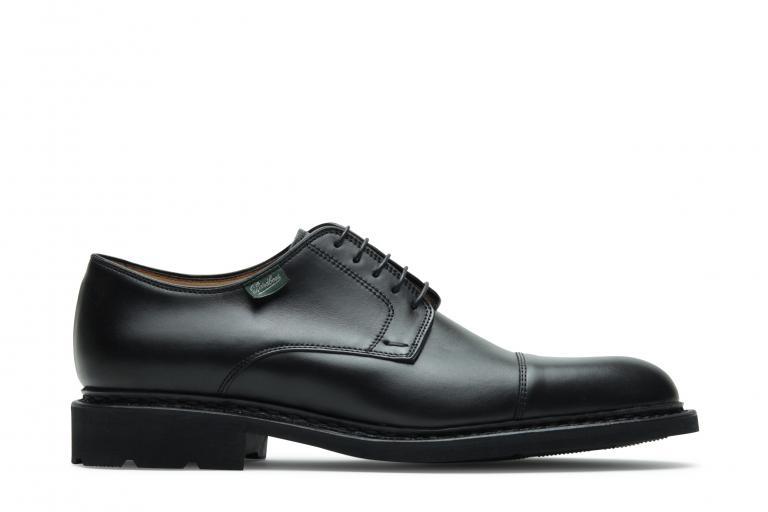 Dickens Lisse noir - Genuine rubber sole