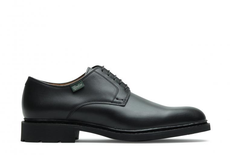 Frenaye Lisse noir - Genuine rubber sole