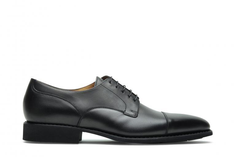Londres Lisse noir - Genuine rubber sole