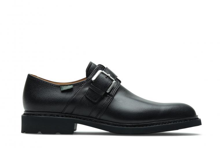 Loty Grainé noir - Genuine rubber sole