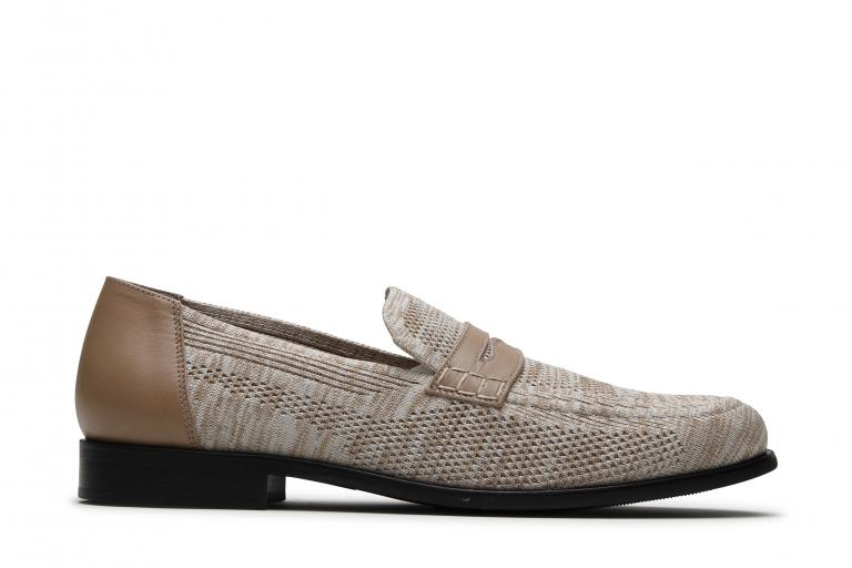 Majorque Tricot beige - Genuine rubber sole