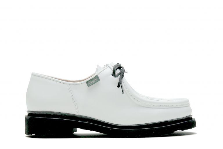 Michael Brillant blanc - Genuine rubber sole