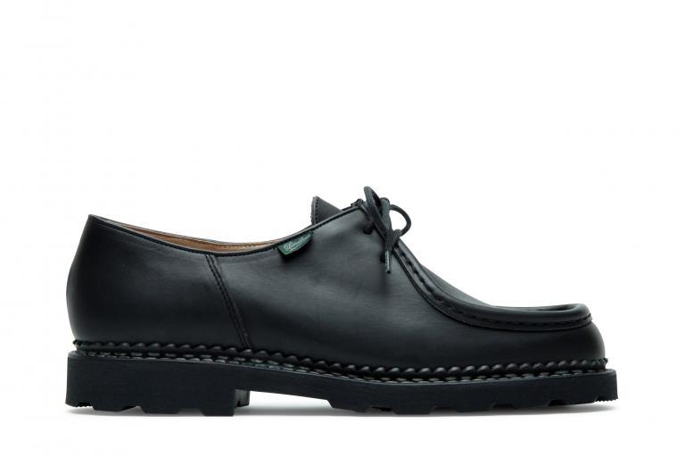 Michael gd taille Lisse noir - Genuine rubber sole