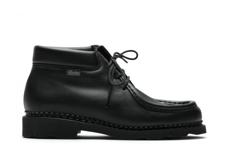 Milla Lisse noir - Genuine rubber sole