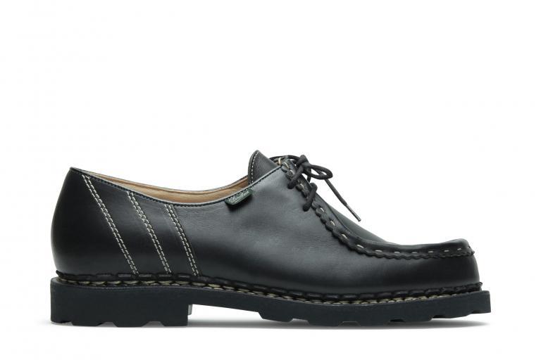 Morzine Lisse noir - Genuine rubber sole