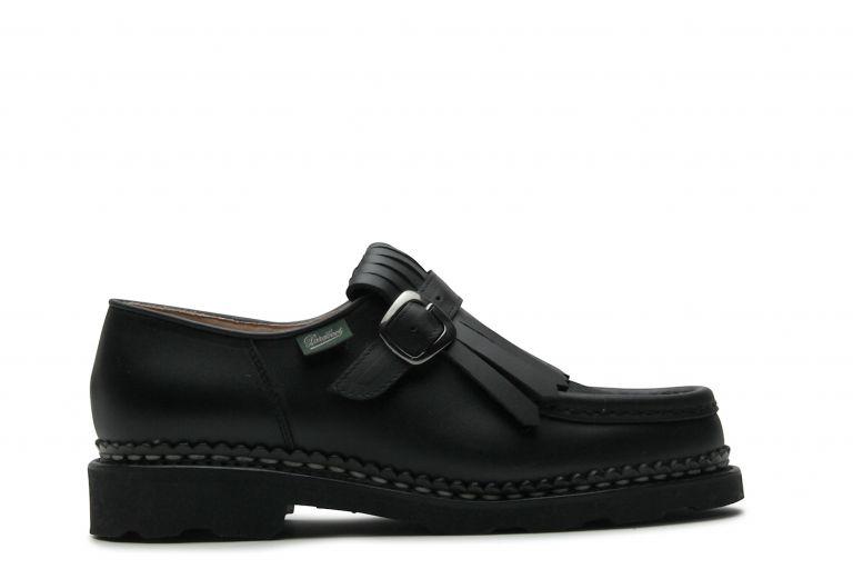 Nyons Lisse/poils noir - Genuine rubber sole