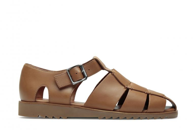 Pacific Lisse cognac - Genuine rubber sole