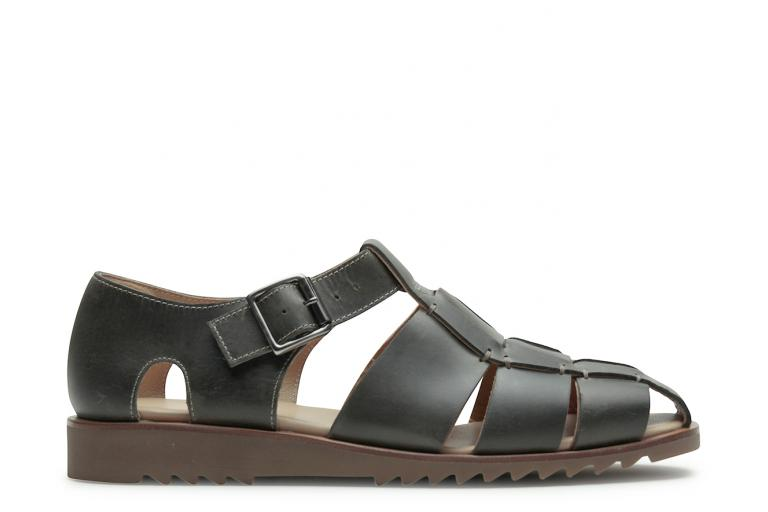 Pacific Lisse olive - Genuine rubber sole